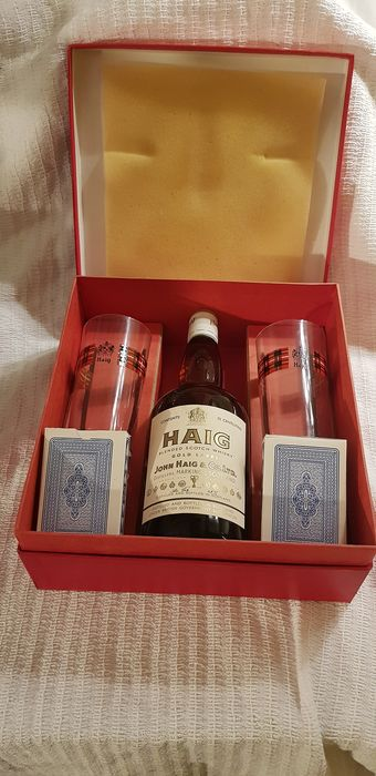 Haig glasses and game cards - b. 1970s - 0.7 Ltr