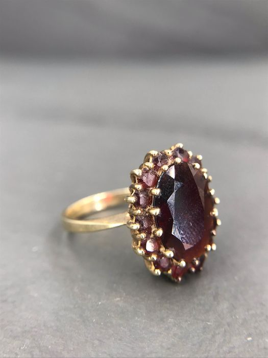 Yellow gold - Ring Garnet - Garnet