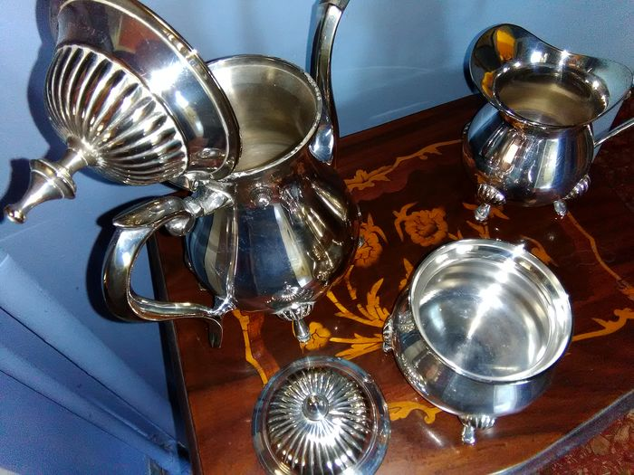 Coffee and tea service (3) - Silver plated