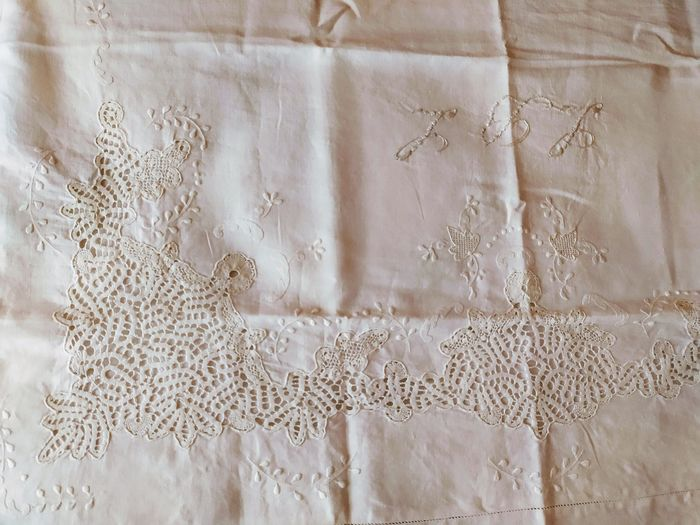 Bed sheets (3) - Linen - Second half 20th century