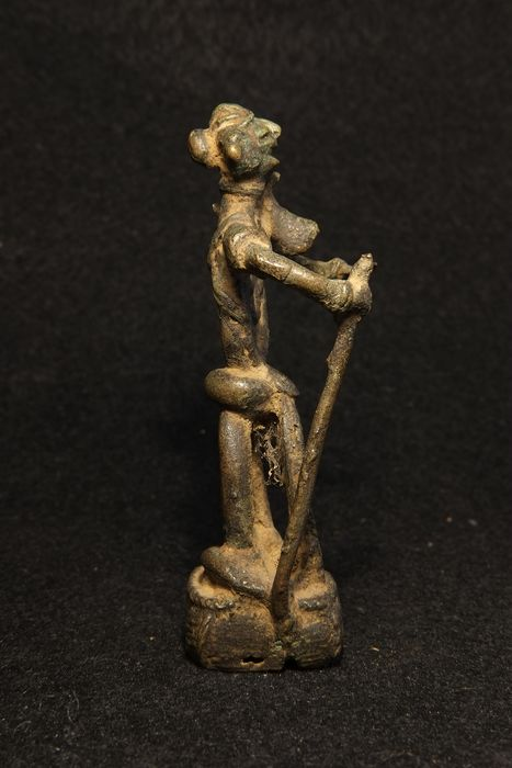 Bastar Bronze Figure of a Goddess,  - Bronze - India - Early 20th century