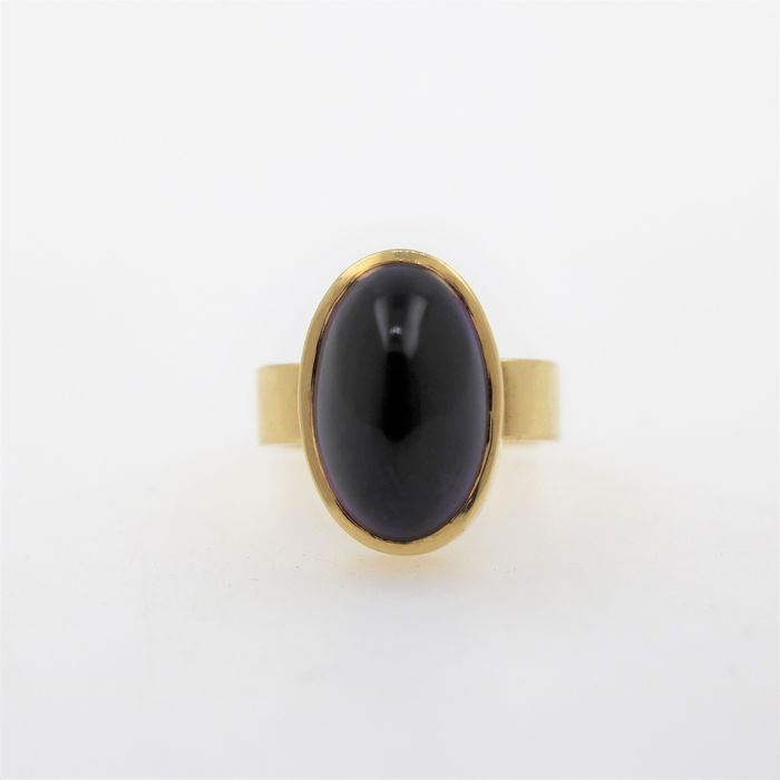 18 kt. Yellow gold - Ring - 6.00 ct Amethyst