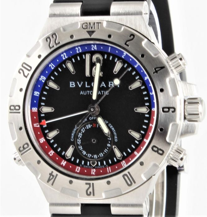 Bvlgari - Diagono Professional - Automatic C.O.S.C. Chronometre - Ref. No: GMT 40S - Excellent Condition - Herren - 2011-heute