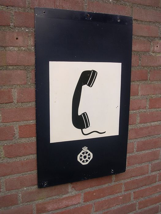Sign, ANWB telephone (1) - Aluminium