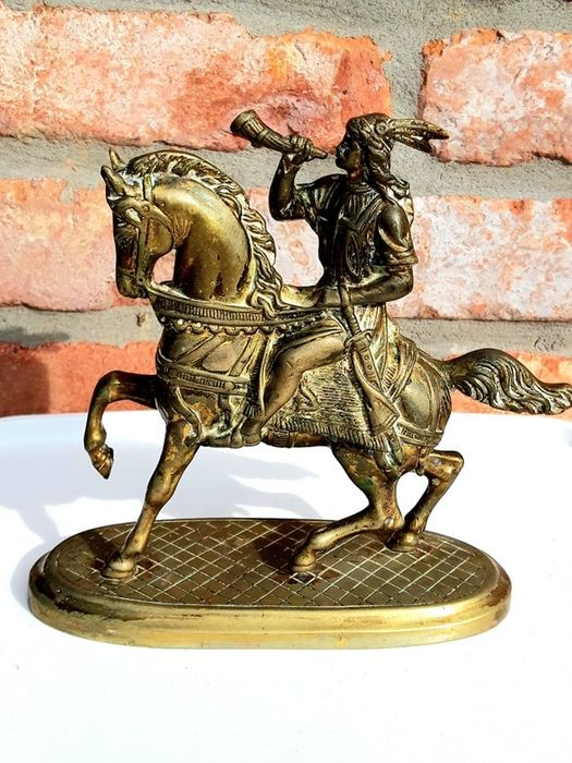 Horseman on his mount - End of XIXth Century - Bronze (gilt/silvered/patinated/cold painted)
