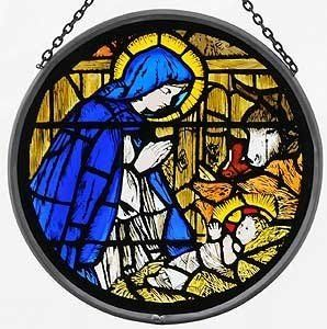 Winged Heart Stained Celtic Glass - Stained sun catching Glass in Lead window. Madonna & Child (1) - Victorian - Stained glass