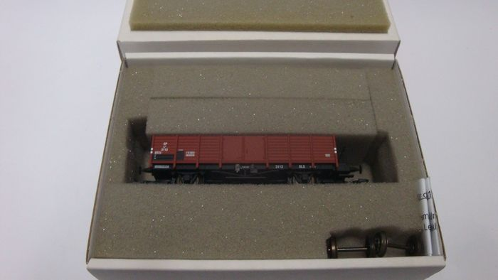 Aku H0 - 1011.1-F - Freight carriage - Open freight wagon L4 - BLS