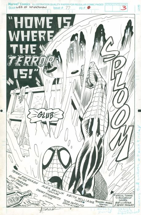 Web Of Spider-man #77 - Home Is Where The Terror Is - Loose page - (1991)