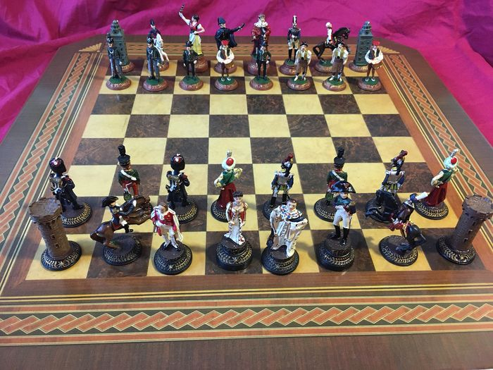 Chess Franco-Spanish War of Independence - highly detailed fine-painted tin figures 1990