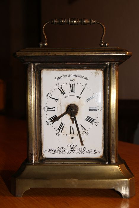 Carriage clock - Brass - Late 19th century
