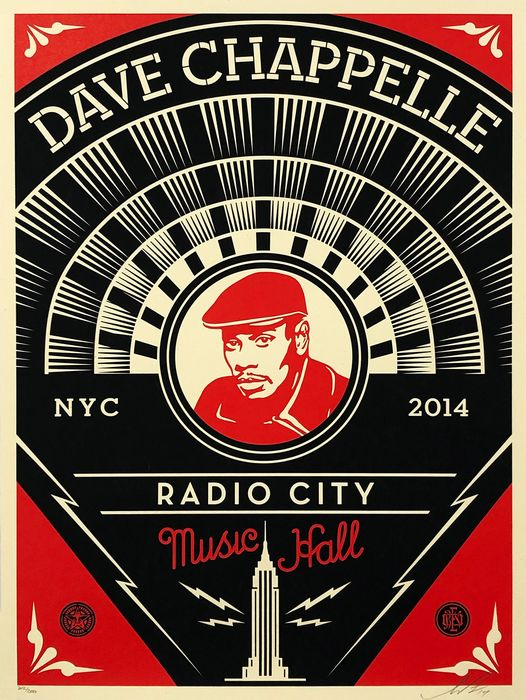 Shepard Fairey (OBEY) - 'Dave Chapelle (Radio City Music Hall)'