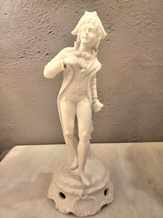 Figure (1) - Louis XV Style - porcelain biscuit harlequin