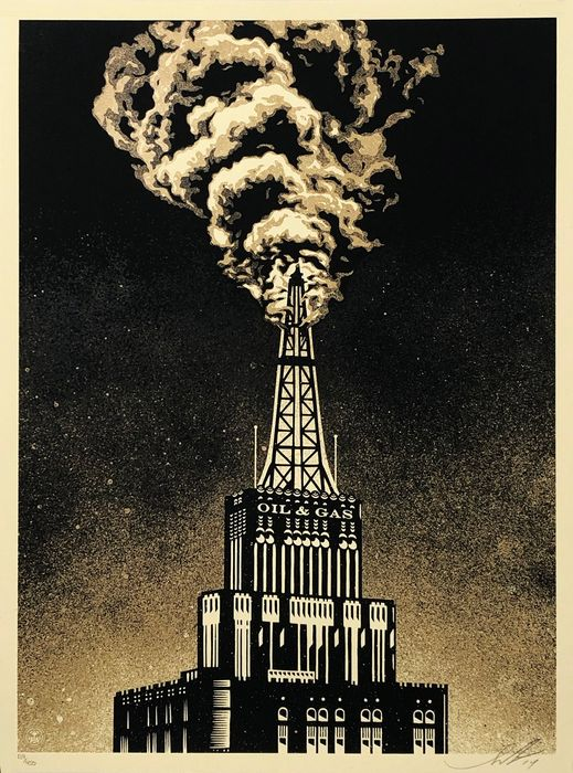 Shepard Fairey (OBEY) - 'Oil & Gas Building'