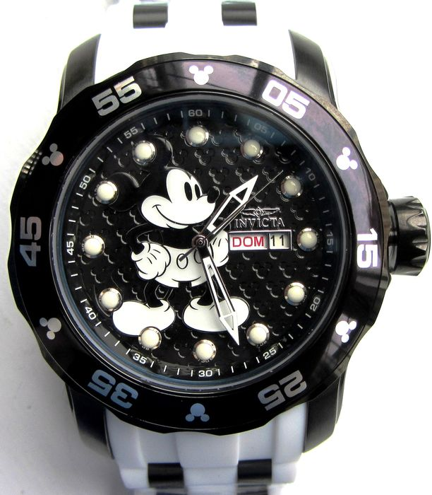 Disney - Invicta Ltd. Edition Watch - Mickey Mouse - 48mm oversize 200m / 660ft Divers Eng / French day date