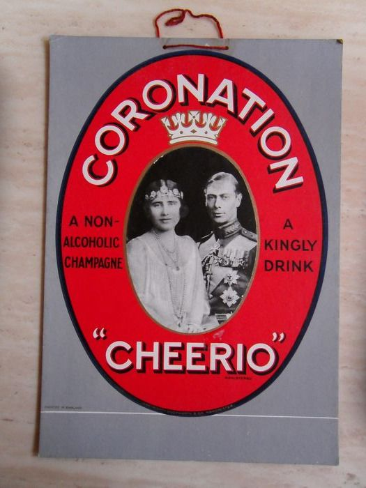 Vintage Shop Advertising - Original Coronation Advertising Showcard - 1930s