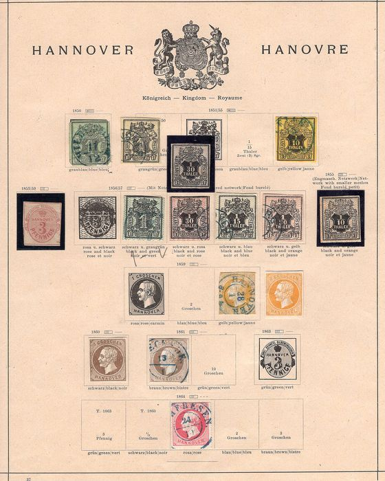 Hannover - and Hamburg collection on album page