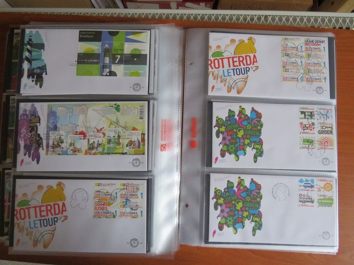 Netherlands 2005/2010 - Six complete years of FDCs + postage paid - NVPH E509/E621 en Pb1/Pb11