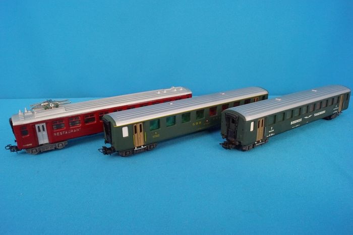 HAG H0 - 445/415/405 - Passenger carriage - 3x carriages - SBB