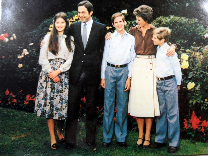 signed Greeting card of the Greek Royal Family - paper with original photo - Second half 20th century