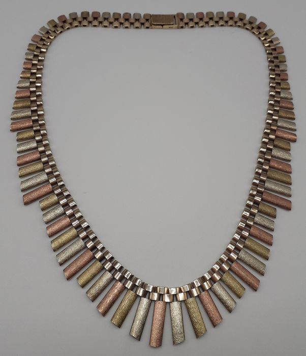 41.5g - 9K Pink gold, White gold, Yellow gold - Necklace