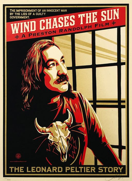 Shepard Fairey (OBEY) - 'Wind Chases the Sun: The Leonard Peltier Story'