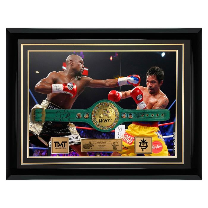 Boxing Manny Pacman career stats plaque free postage