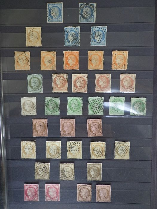 France 1849/1875 - Collection of classic type Ceres in multiples for studying types, varieties, shades and postmarks - Yvert N°4 au n°60