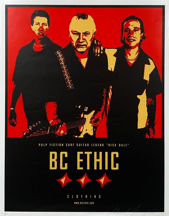 Shepard Fairey (OBEY) - 'Dick Dale: BC Ethic Clothing'