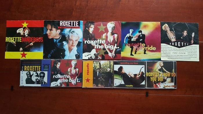 "Roxette - 5 x 7"" singles and 5 x CD single - Multiple titles - 45 rpm Single, CD's - 1988/1993"