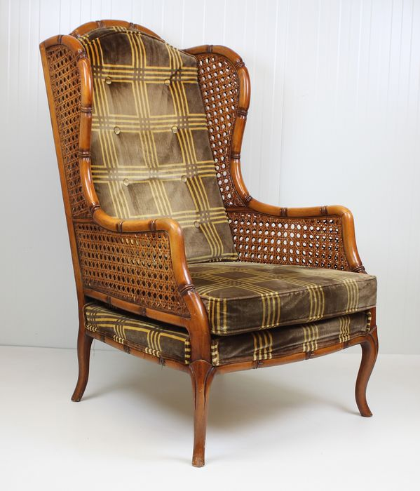 Giorgetti - Faux Bamboo with rattan armchair