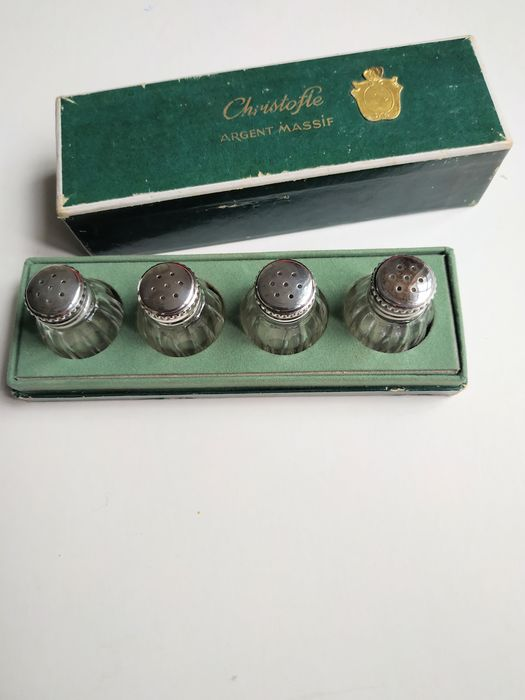 set of 4 Christofle salt shakers table (4) - .950 silver - Christofle - France - mid 20th century