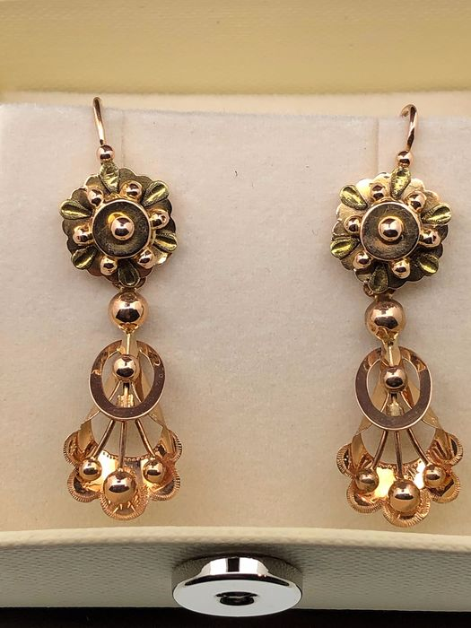 Yellow gold - Earrings endXIX °