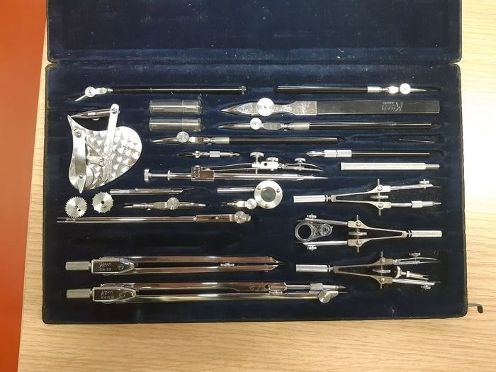 Drawing instruments - Steel - mid 20th century