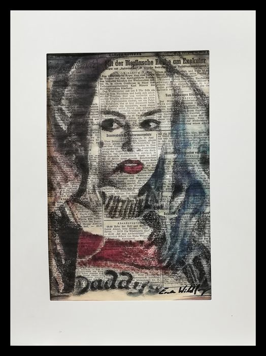HARLEY QUINN - Original artwork on a newspaper from 1952 - First edition - (2019)