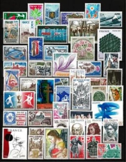Frankreich 1977/1983 - Lot with 7 complete years of stamps, mint** without hinges - Yvert  N°1914 au 2298