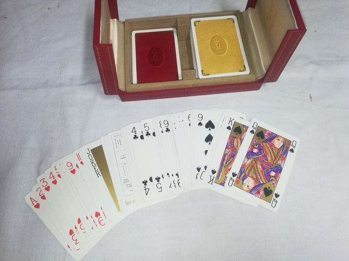 Cartier - Cartier - Cartier poker card box - Cardboard, Leather