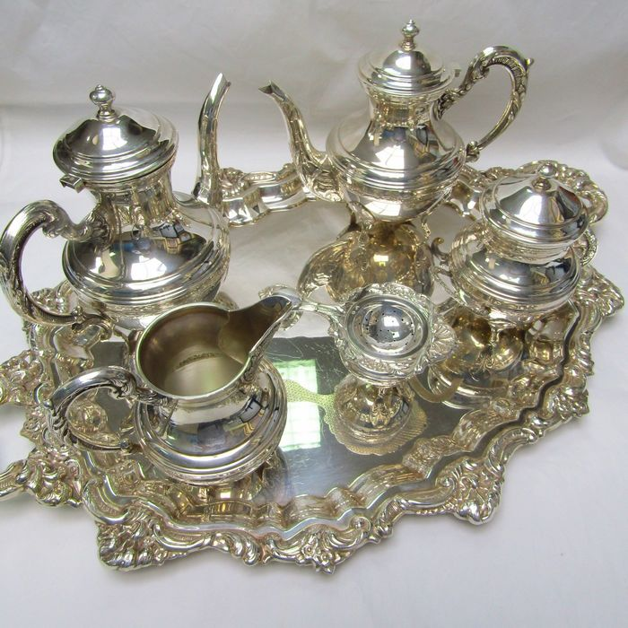 Coffee and tea service - .925 silver - 3.010 gr. - Spain - Early 20th century