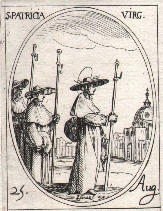 Jacques Callot ( 1592-1632 ) - St Patricia, St Augustinus and other Saints -  First edition