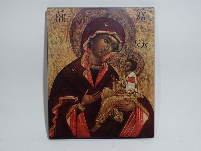 Heiligen Bild  - Icon holy picture Madonna with child Russia (1) - Baroque - Wood