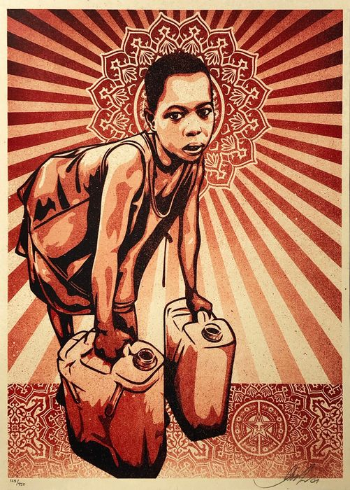 Shepard Fairey (OBEY) - 'Yellow Cans'