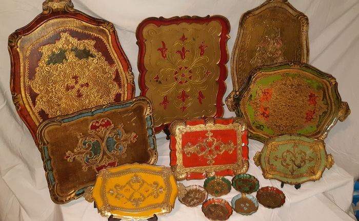 Florentijns - Tray, Trays and coasters (14) - Baroque - wood plaster
