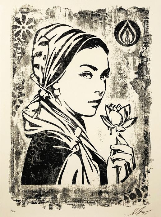 Shepard Fairey (OBEY) - 'Damaged Stencil Series: Natural Springs'