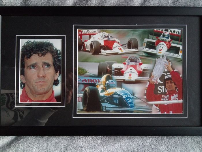 Alain Prost Signed Framed Photo display with coa - Formula One - Photograph