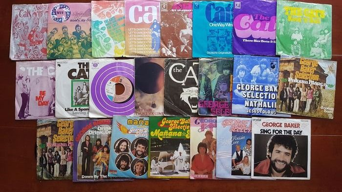 "The Cats and George Baker Selection - Career overview 13 x Cats  and 10 x George Baker 7"" singles - Multiple titles - 45 rpm Single - 1968/1990"