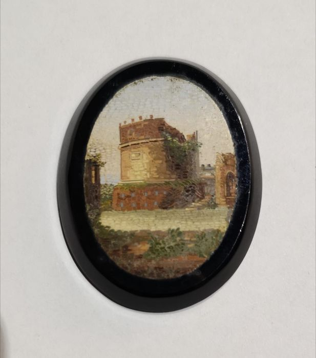 micromosaic plaque (1) - Stained glass, vitreous enamel - Late 19th century