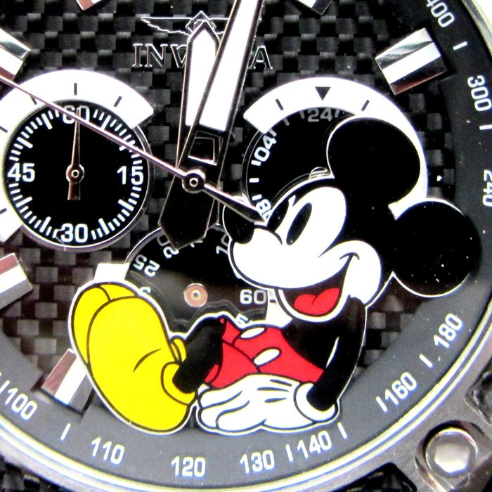 """Disney Invicta Wristwatch - Limited Edition - Mickey Mouse 48mm 100M 330ft Oversize Chronograph """"Drivers"""" Racing Watch - # 0199 van 3000"""