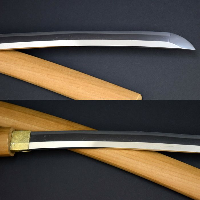 Nihonto wakizashi  CHOSYU HAGI JYU KIYOSHIGE 長州萩住清重 signed in Shirasaya - Tamahagane - Japan - Edo Period (1600-1868)