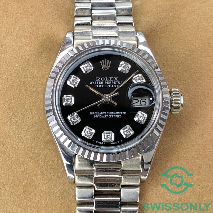 Rolex - Datejust Lady Black Diamond Dial 18k - 6917 - Women - 1970-1979
