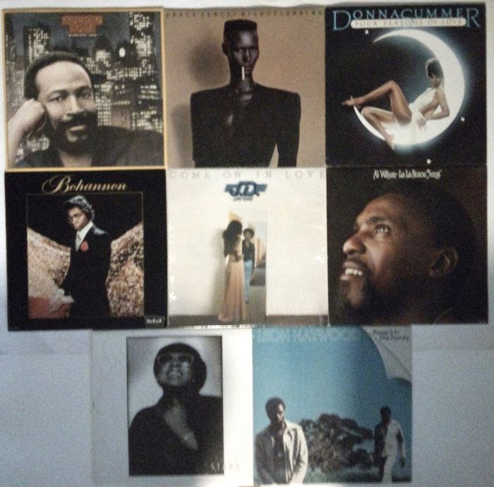 Donna Summer, Grace Jones, Various Artists/Bands in 1970's, Various Artists/Bands in 1980's, Marvin Gaye - Différents artistes - Différents titres - LP's - 1982/1975