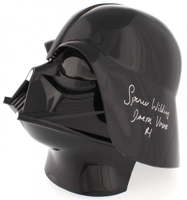 Star Wars - Spencer Wilding ( Darth Vader ) - Full-Size Deluxe Edition Helmet - Signed with Certificate PA